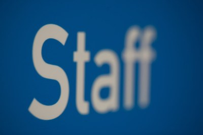 Staff detail in signage panel
